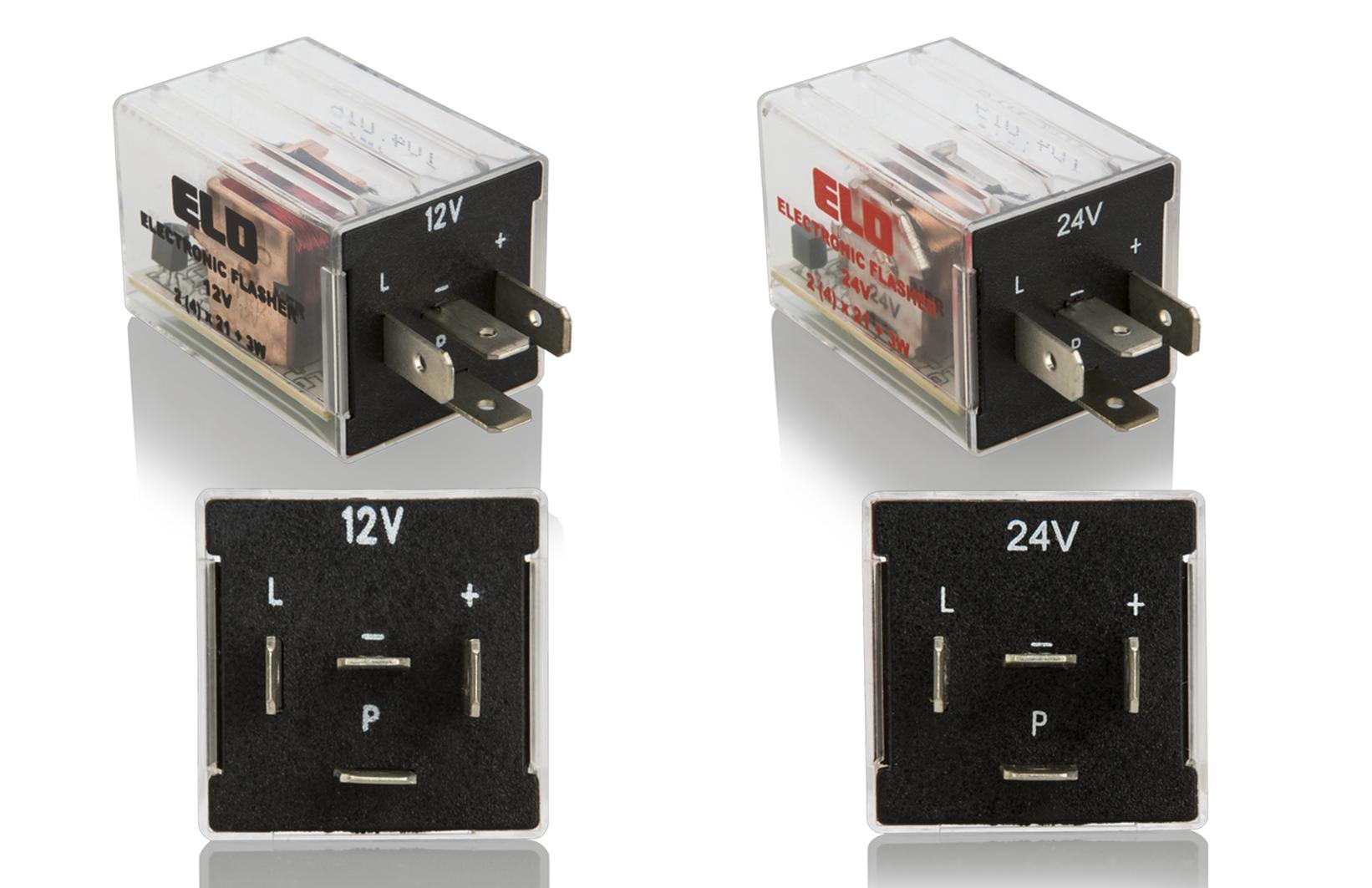 ELEKTRONİK LED FLAŞÖRLER 12V / 24V (+, L, P, -)